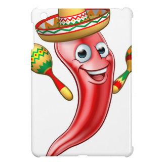 Mexican Cartoon Red Chilli Pepper Mascot Case For The iPad Mini