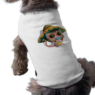 Mexican Cat with Sombrero Sleeveless Dog Shirt