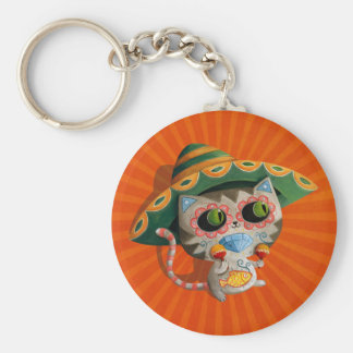Mexican Cat with Sombrero Key Chains