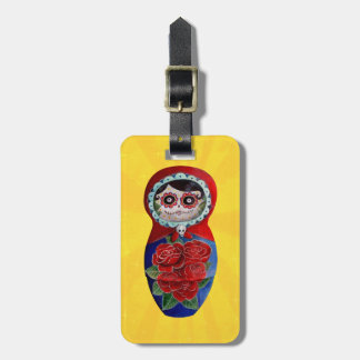 Mexican Catrina Matryoshka Luggage Tag