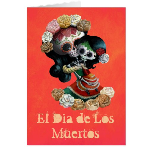 Mexican Catrinas Mother and Daughter Card