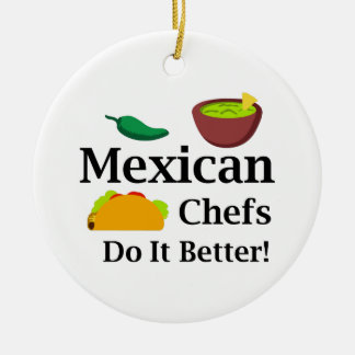 MEXICAN CHEFS ROUND CERAMIC DECORATION