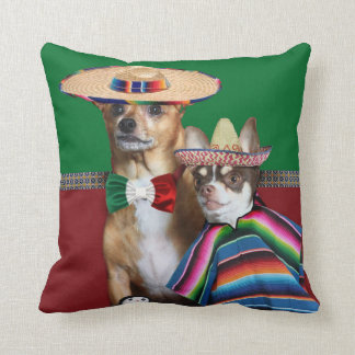 Mexican chihuahua dogs throw Pillow
