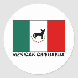 Mexican Chihuahua Round Sticker