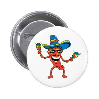 Mexican Chili Pepper 6 Cm Round Badge