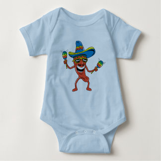 Mexican Chili Pepper Baby Bodysuit
