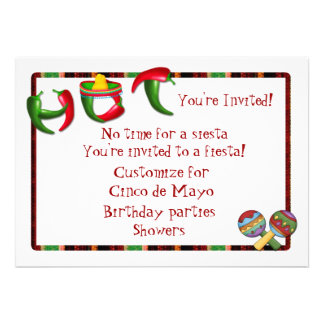 Mexican Chili Pepper Fiesta Personalized Announcement