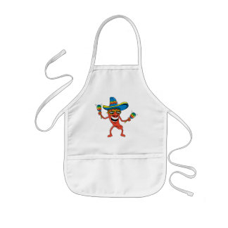 Mexican Chili Pepper Kids Apron