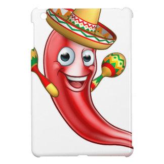 Mexican Chilli Pepper with Maracas and Sombrero iPad Mini Cover