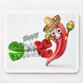 Mexican Cinco De Mayo Chilli Pepper Design Mouse Pad