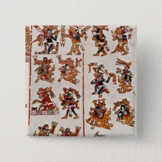 Mexican codex 15 cm square badge