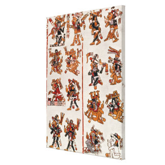 Mexican codex canvas print