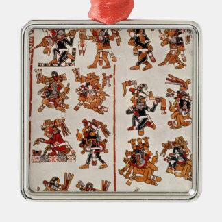 Mexican codex christmas ornament