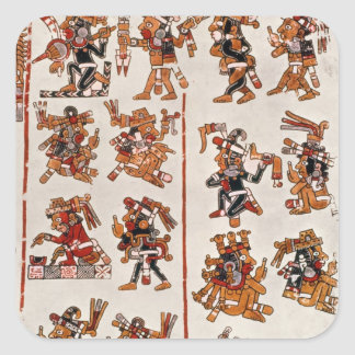 Mexican codex square sticker