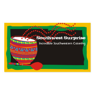 Mexican cooking decorated bowl business cards