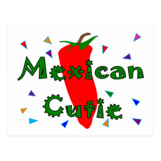 Mexican Cutie Red Chilli Pepper T-Shirts & Gifts Postcards