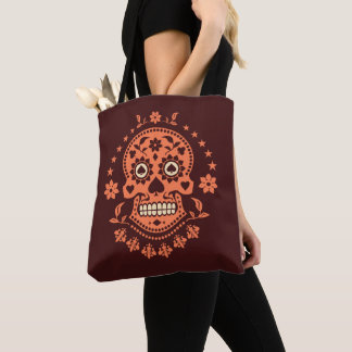 Mexican Day of the Dead Decorated Sugar Skull Tote Bag