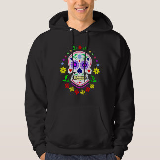 Mexican Day of the Dead Decorative Sugar Skull Hoodie