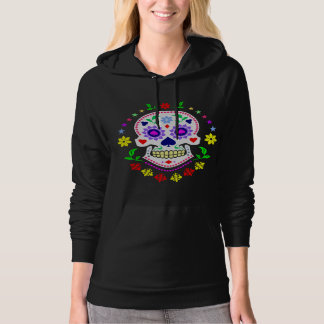 Mexican Day of the Dead Decorative Sugar Skull Hoodies