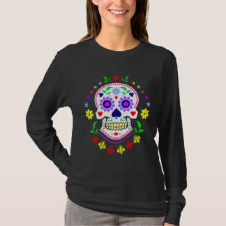 Mexican Day of the Dead Decorative Sugar Skull T-Shirt