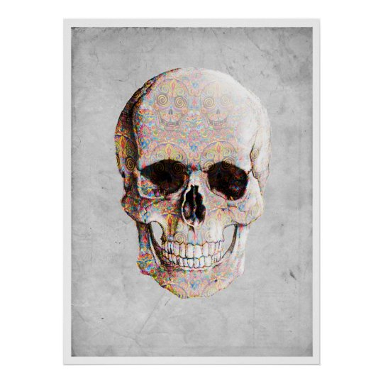 Mexican Day of the dead Skull Poster