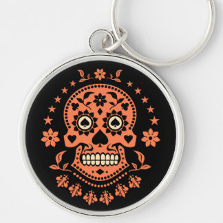 Mexican Day of the Dead Sugar Skull Key Ring