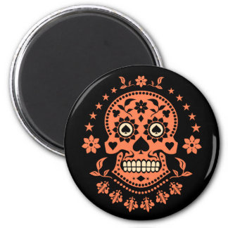 Mexican Day of the Dead Sugar Skull Magnet