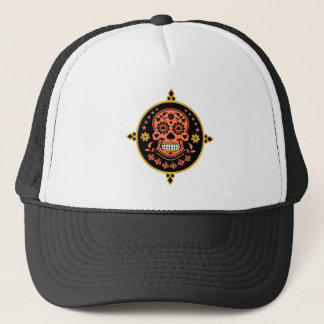 Mexican Day of the Dead Sugar Skull Trucker Hat