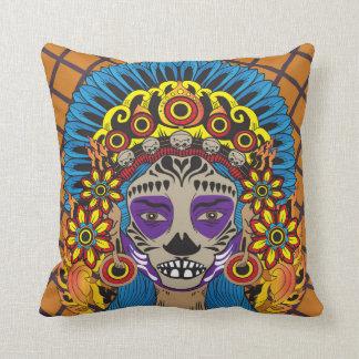 Mexican Death Goddess Cushion