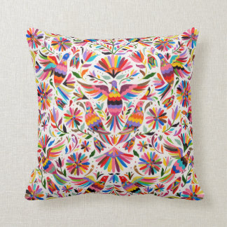 Mexican Design Colorful pigeons & Pheasant Cushion