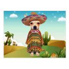 Mexican dog ,chihuahua postcard