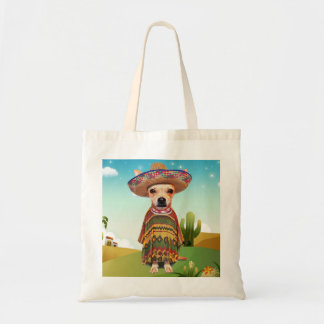 Mexican dog ,chihuahua tote bag