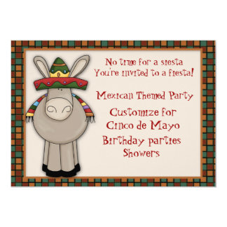 Mexican Donkey Themed Invitation