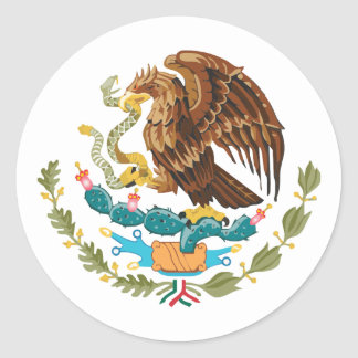 Mexican Eagle Round Sticker