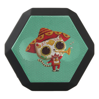 Mexican El mariachi Cute Cat Black Bluetooth Speaker