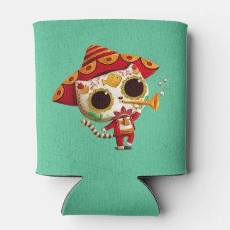 Mexican El mariachi Cute Cat Can Cooler