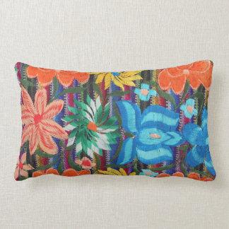 Mexican Embroidery design lumbar throw pillow