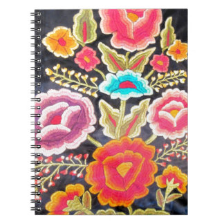 Mexican Embroidery design Spiral Notebook