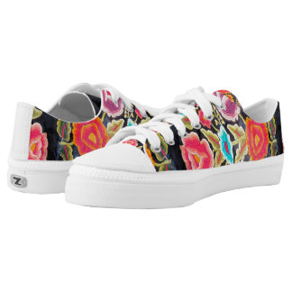 Mexican Embroidery pattern tennis shoes Printed Shoes