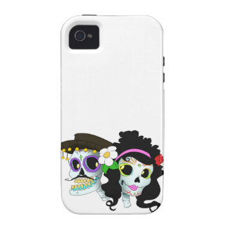 Mexican Festive Skull Couple iPhone 4/4S Covers