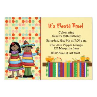 Mexican Fiesta 13 Cm X 18 Cm Invitation Card