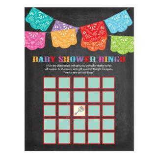 Mexican Fiesta Baby Shower Bingo game card