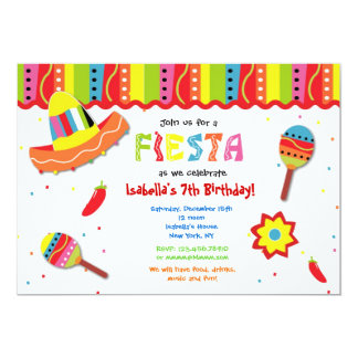 Mexican Fiesta Party Invitations Announcements Zazzlecouk
