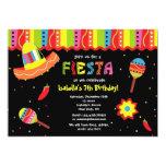 "Mexican Fiesta Birthday Party Invitations 5"" X 7"" Invitation Card"