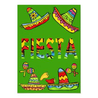 Mexican Fiesta Cinco de Mayo Invitations Green