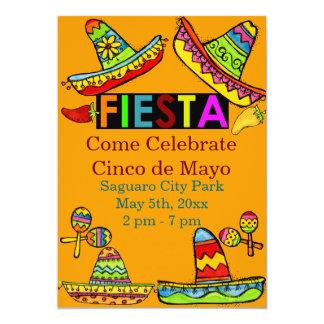 Mexican Fiesta Cinco de Mayo Invitations Orange