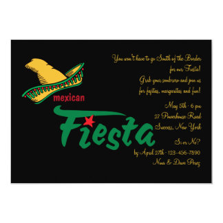 """Mexican Fiesta Invitation 5"""" X 7"""" Invitation Card"""