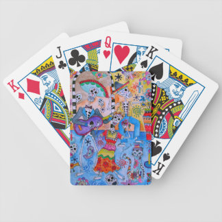 MEXICAN FIESTA Mariachi Cats Calavera Bicycle Playing Cards