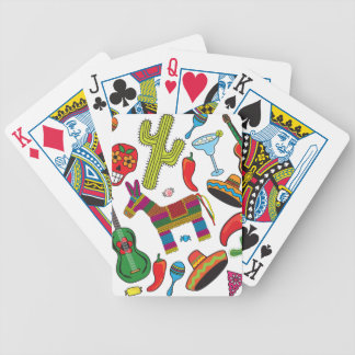 Mexican Fiesta Party Images Bicycle Playing Cards