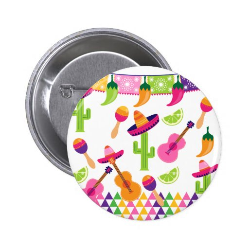 Mexican Fiesta Party Sombrero Saguaro Lime Peppers Pins